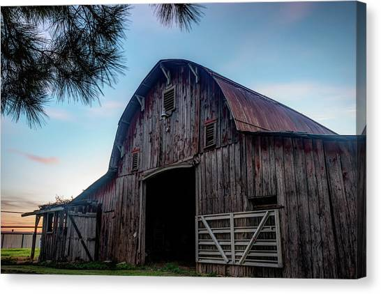 A Relic Of The Past - Old Barn Photography Canvas Print by Gregory Ballos