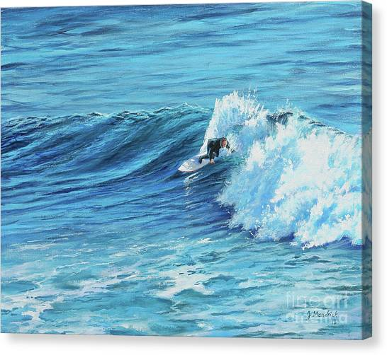 A Ride On Steamer Lane Canvas Print