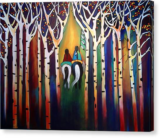 A Ride Through The Aspens Canvas Print