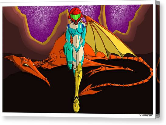 Metroid Canvas Print - A Ridley Pet by Nathan Spencer