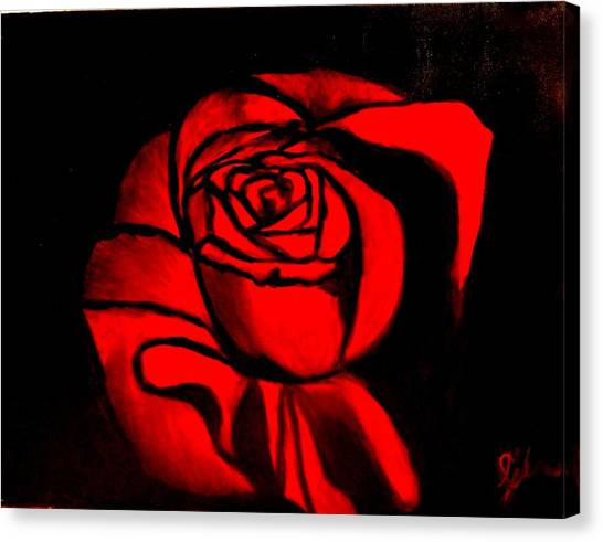 A Rose For Delilah  Canvas Print