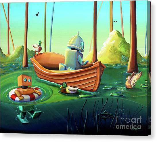 Bayous Canvas Print - A River Of Curiosity by Cindy Thornton