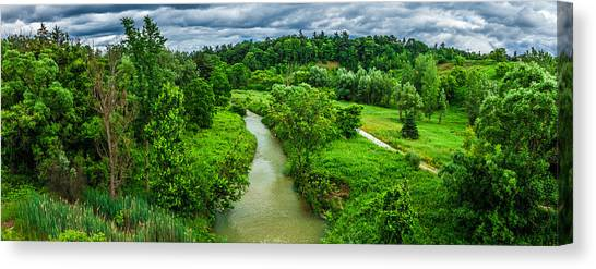 A River Runs Through Canvas Print