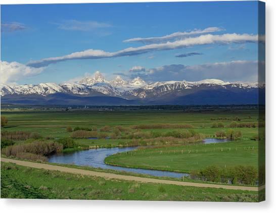 Teton National Forest Canvas Print - A River Runs Through It. by Bridget Calip