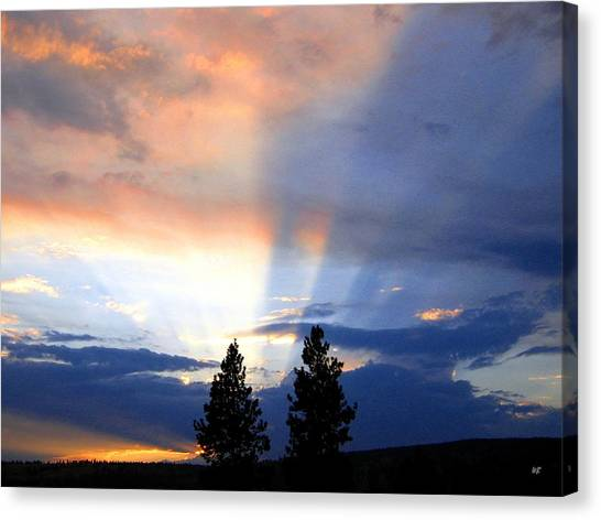 A Riveting Sky Canvas Print