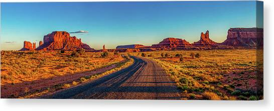 Red Rock Canvas Print - A Road Less Travelled by Az Jackson