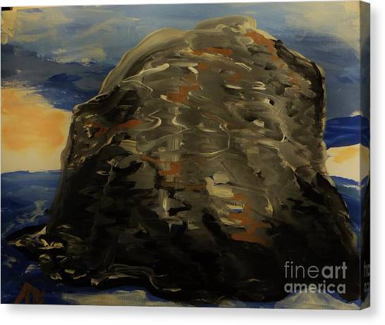 A Rock Canvas Print by Marie Bulger