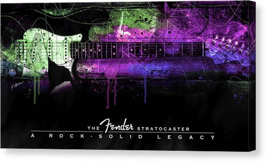 Stratocasters Canvas Print - A Rock Solid Legacy by Gary Bodnar