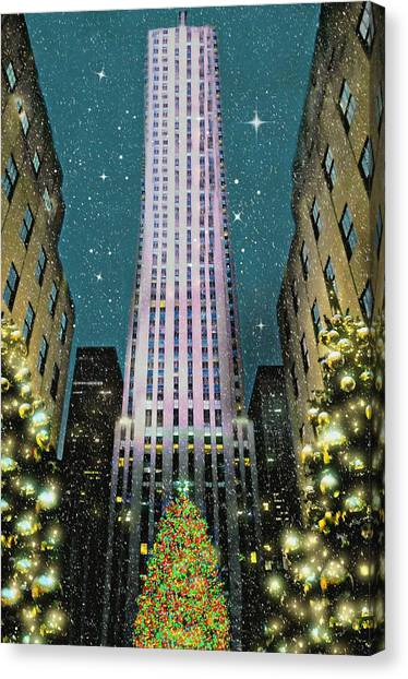 A Rocking Christmas Canvas Print