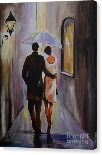 A Romantic Stroll Canvas Print