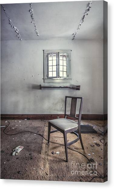 Derelict Canvas Print - A Room For Thought by Evelina Kremsdorf