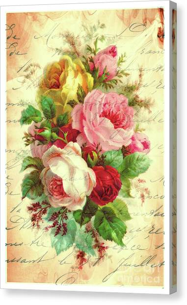 A Rose Speaks Of Love Canvas Print