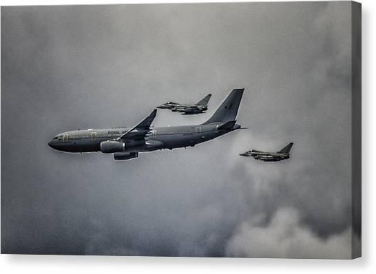 Nato Canvas Print - A Royal Escort by Martin Newman