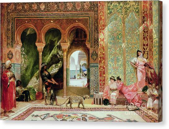 Racism Canvas Print - A Royal Palace In Morocco by Benjamin Jean Joseph Constant