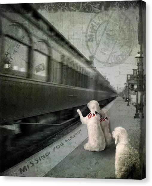 A Sad Goodbye Canvas Print by Suni Roveto