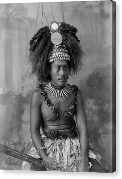 A Samoan High Chief Canvas Print