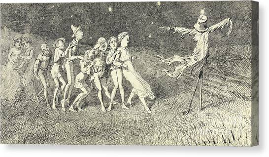 Scarecrows Canvas Print - A Scarecrow by Charles Altamont Doyle