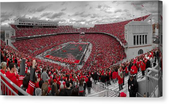 Colleges And Universities Canvas Print - A Sea Of Scarlet by Kenneth Krolikowski