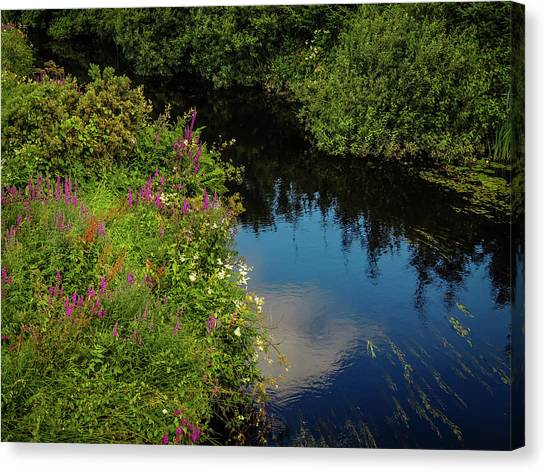 Canvas Print featuring the photograph A Serene Scene In The Magical Irish Countryside by James Truett