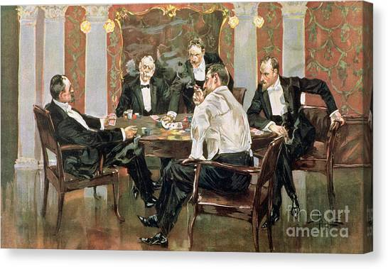 Wager Canvas Print - A Showdown by Albert Beck Wenzell