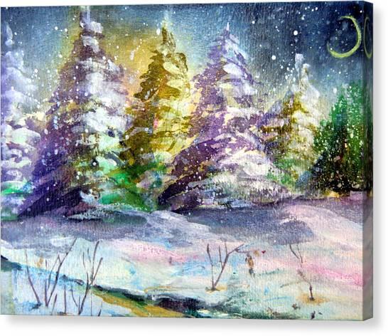 A Silent Night Canvas Print