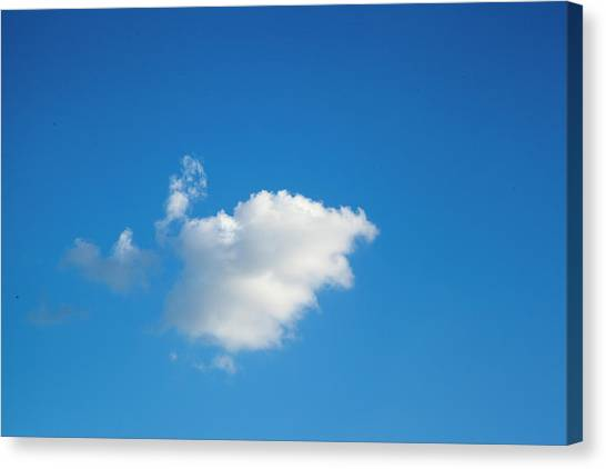 A Single Cloud Canvas Print