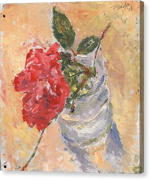 A Single Rose Canvas Print by Horacio Prada
