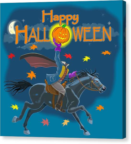 A Sleepy Hollow Halloween Canvas Print
