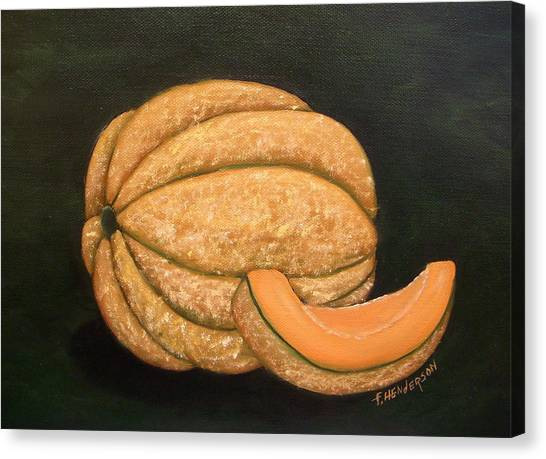 A Slice Of Melon Canvas Print by Francine Henderson