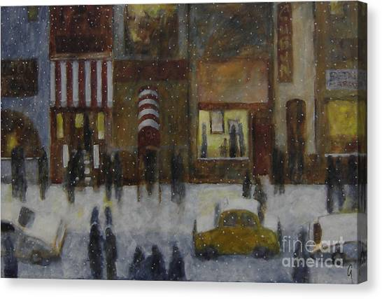 A Slice Of Night Life Canvas Print
