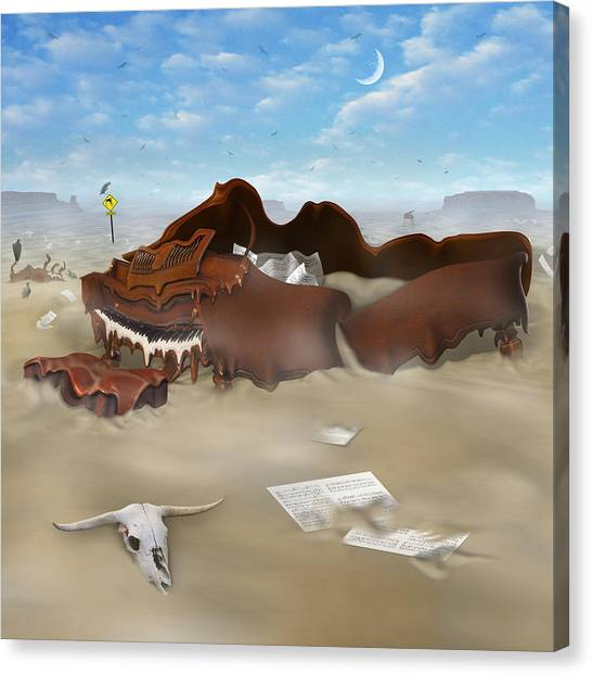 Buzzards Canvas Print - A Slow Death In Piano Valley Sq by Mike McGlothlen