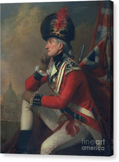 18th Century Canvas Print - A Soldier Called Major John Andre by English School