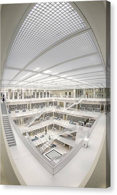 Libraries Canvas Print - A Space Of Knowledge by Fahad Abdulhameed