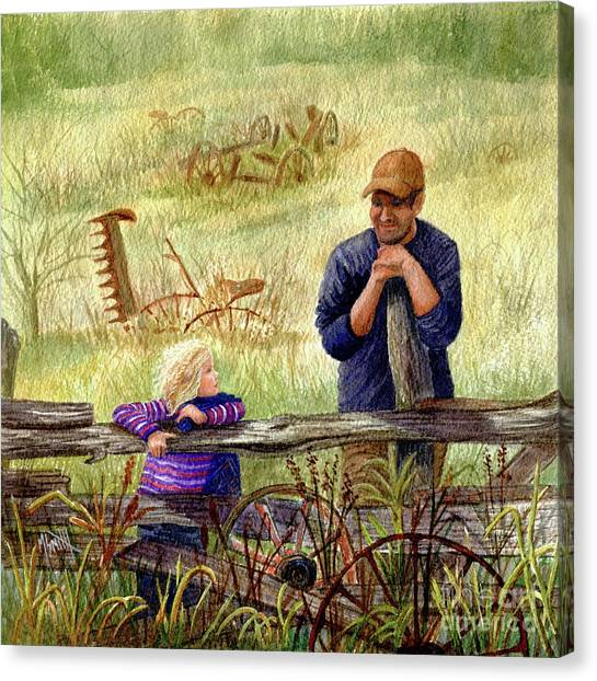 Canvas Print - A Special Moment With Dad by Marilyn Smith