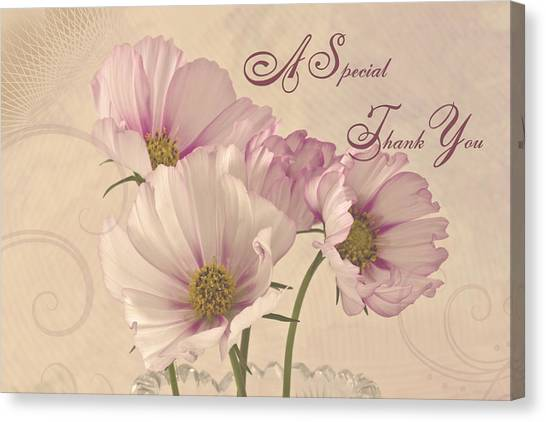 A Special Thank You - Card Canvas Print
