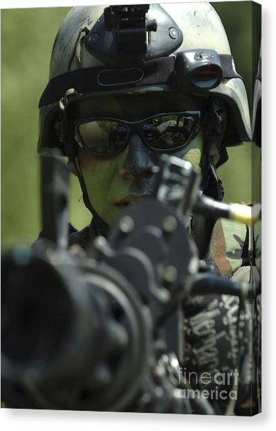 Navy Seal Canvas Print - A Special Warfare Combatant-craft by Stocktrek Images