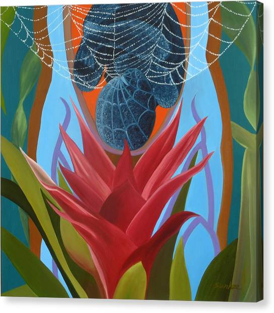 A Spider Baby Canvas Print by Sunhee Kim Jung