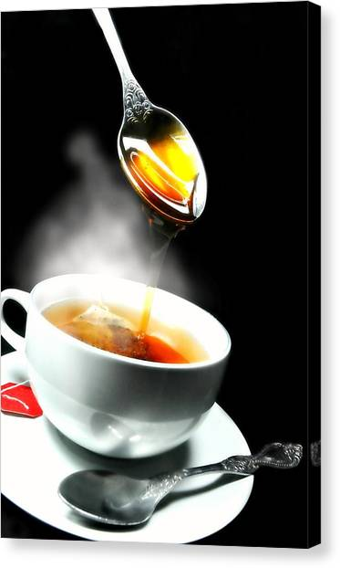 Sweet Tea Canvas Print - A Spoonful by Diana Angstadt