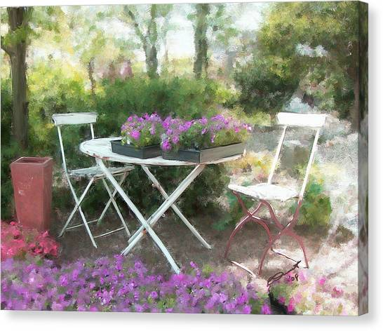 A Spot For Tea Canvas Print by Eddie Durrett
