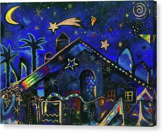 Canvas Print - a star in Bethlehem by Johannes Margreiter