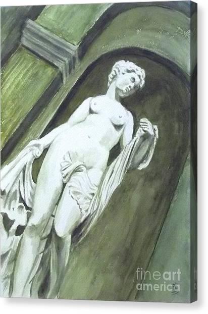 A Statue At The Toledo Art Museum - Ohio Canvas Print