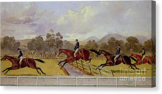 Finish Line Canvas Print - A Steeplechase  by Samuel Henry Alken