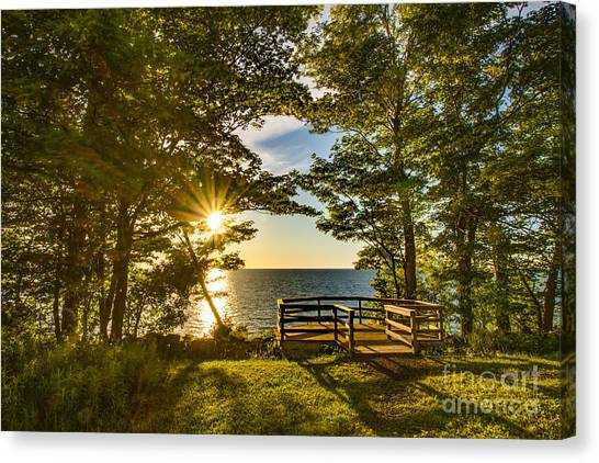 A Sterling Sunset Canvas Print