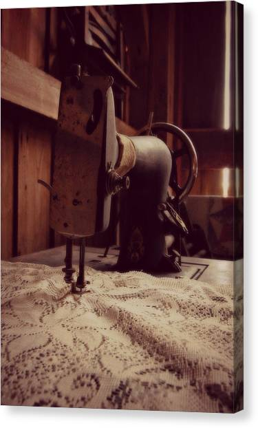 A Stitch In Time Canvas Print by Amy Schauland
