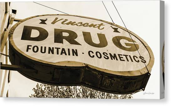 A Store For Everyone - Vintage Pharmacy Sign Canvas Print