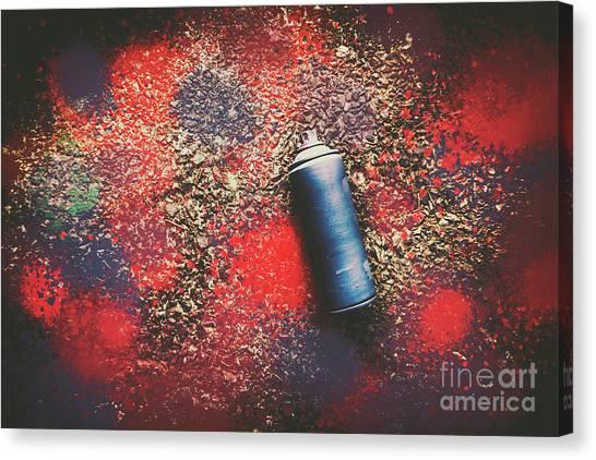 Graffiti Canvas Print - A Street Art Composition by Jorgo Photography - Wall Art Gallery