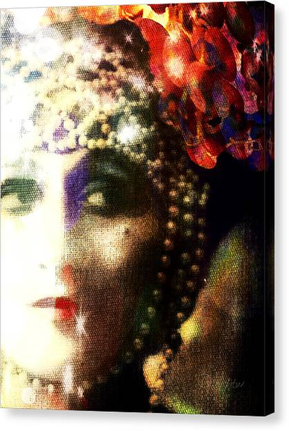 Canvas Print featuring the digital art A String Of Pearls by Delight Worthyn