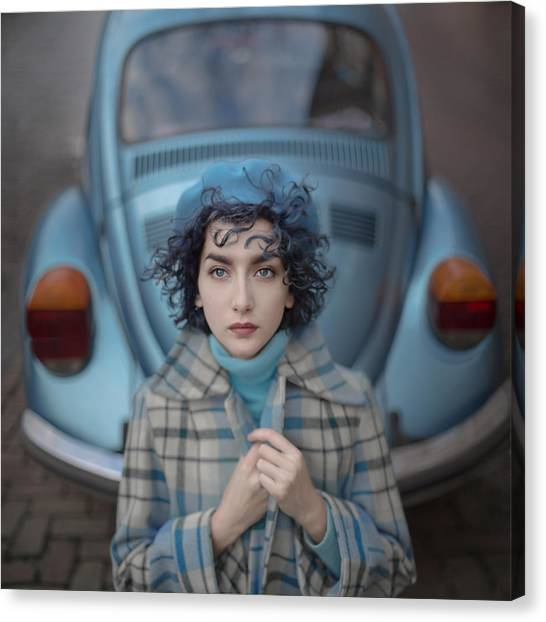Bug Canvas Print - A Study In Blue by Anka Zhuravleva