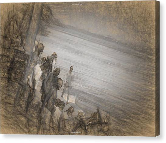 Congo River Canvas Print - A Study Of Man by Nicholas Mariano