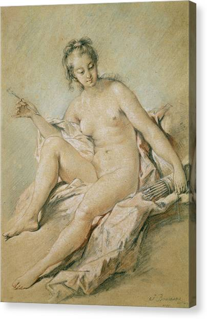 Venus Canvas Print - A Study Of Venus by Francois Boucher